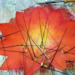 必要な長さにあわせて針金を折り曲げます。どの部分の葉脈かを間違えないようにしましょう