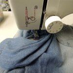 ミシンで縫い付け